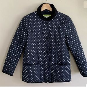 Crewcuts  Dot Navy Blue White Quilted Barn Jacket